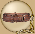 LARP Luthor leather belt
